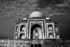 Black-White Taj Mahal