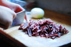 chopped meat