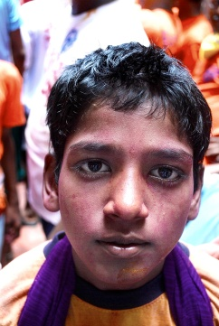 painted boy at a festival in mumbai - Version 2